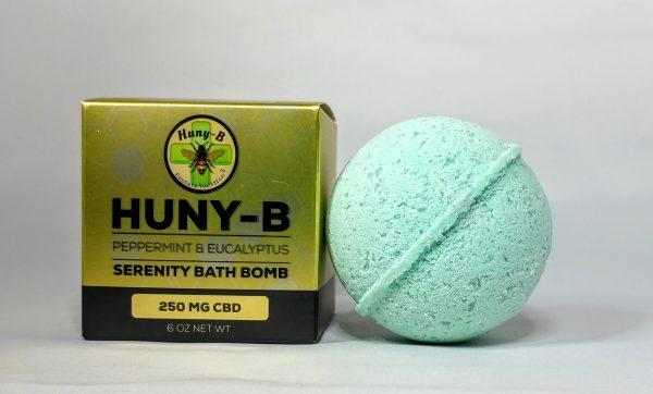250 mg Peppermint Eucalyptus Bath Bomb