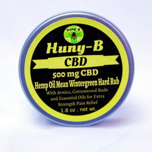 Huny-b 500 mg CBD Hemp Oil Mean Wintergreen Hard Rub